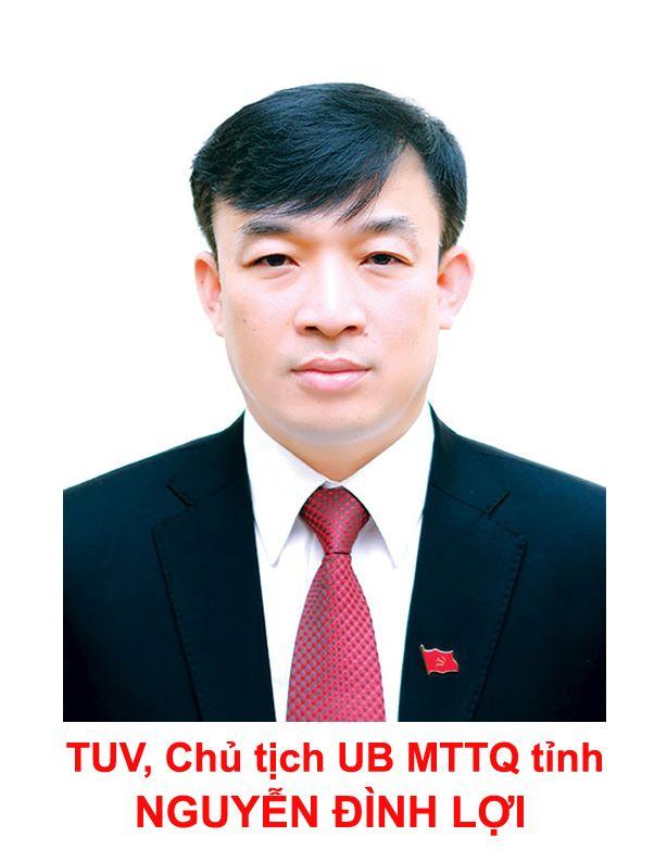 Chủ tịch UBMTTQ tỉnh - Nguyễn Đình Lợi